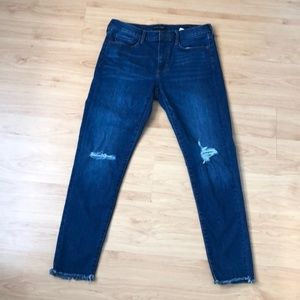 Banana Republic Frayed Skinny Jeans sz 30